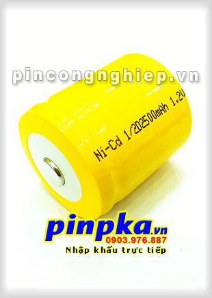 Pin Sạc Công Nghiệp-Pin Cell 1,2v NiCD 1/2D 2500mAh